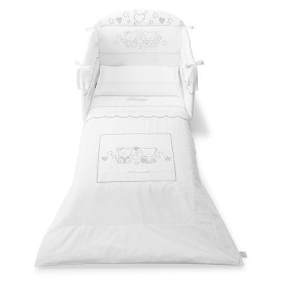 Комплект постельного белья 3 предмета Pali Prestige (белый)