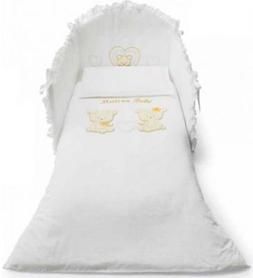 Постельный сет 5 предметов Pali Smart Maison Bebe (белый)