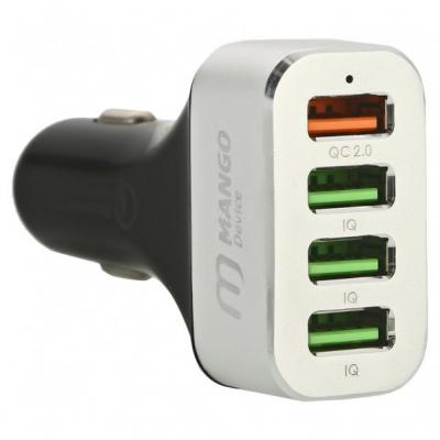 Автомобильное зарядное устройство Mango Device Quick Charge 2.0 4 x USB серебристый MD-CC-102S автомобильное зарядное устройство mango device quick charge 2 0 4 x usb серебристый md cc 102s