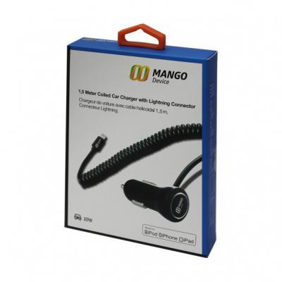 Автомобильное зарядное устройство Mango Device XBX-016 8-pin Lightning 2.1A черный