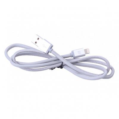 Кабель Mango Device USB 1м для Apple MFI Lightning натуральная кожа серый MD-IP5C01L-GK(G)