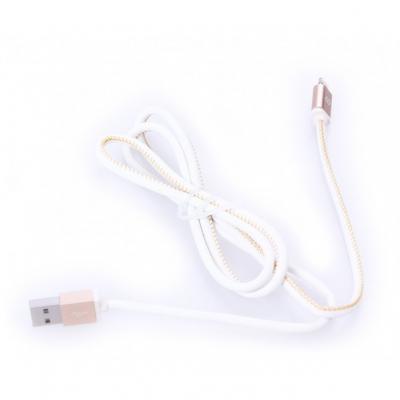 Кабель Mango Device USB 1м для Apple MFI Lightning натуральная кожа белый золотой MD-IP5C01L-WE(B)