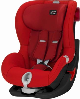 Автокресло Britax Romer King II LS Black Series (flame red trendline) детское автокресло king ii ls fire red trendline