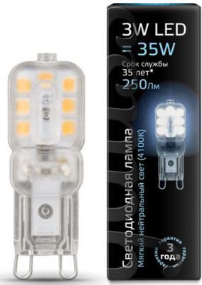 Лампа cветодиодная G9 3W 4100K колба прозрачная 107409203