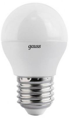 Лампа светодиодная E27 6W 2700K шар матовый 53216
