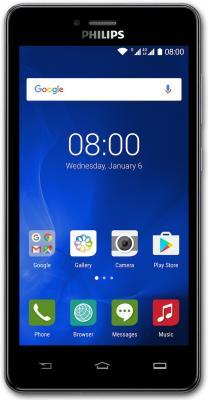 Смартфон Philips S326 серый 5 8 Гб LTE Wi-Fi GPS 3G смартфон micromax q409 серый 5 8 гб lte wi fi gps 3g