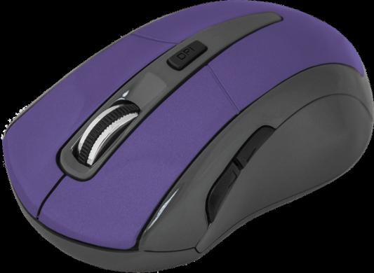 Мышь беспроводная DEFENDER Accura MM-965 фиолетовый USB 52969 беспроводная оптическая мышь defender accura mm 965 голубой 6кнопок 800 1600dpi