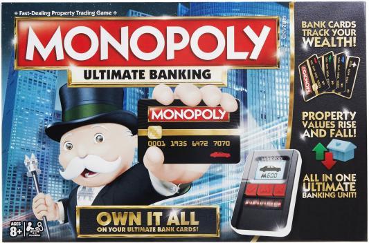 Настольная игра HASBRO логическая Монополия с банковскими карточками настольная игра hasbro hasbro настольная игра монополия миллионер