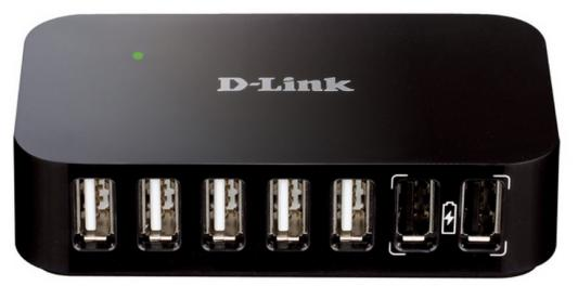 Концентратор USB D-Link DUB-H7/B/D1A 7 портов USB2.0