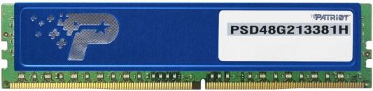 Оперативная память 8Gb PC4-17000 2133MHz DDR4 DIMM Patriot PSD48G213381H оперативная память для ноутбуков so ddr4 8gb pc4 17000 2133mhz ddr4 dimm patriot psd48g213381s
