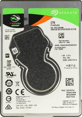 "Жесткий диск для ноутбука 2.5"" 2Tb 5400rpm 128Mb cache Seagate Firecuda SATAIII ST2000LX001"