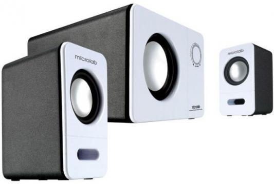 Колонки Microlab M-600 40Вт белый черный