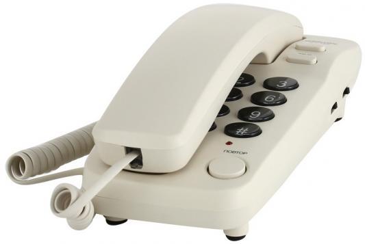 Телефон Ritmix RT-100 ivory телефоны стационарные ritmix телефоны ritmix rt 100 ivory