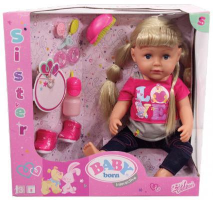Кукла ZAPF Creation Baby born - Сестричка 43 см плачущая пьющая кукла zapf creation baby born сестричка русалочка 43 см 824 344