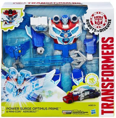 Игровой набор Hasbro Transformers ТРАНСФОРМЕРЫ РОБОТЫ ПОД ПРИКРЫТИЕМ: Заряженый Оптимус Прайм 2 предмета