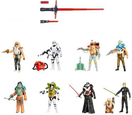 Игровой набор Hasbro Star Wars световой меч делюкс B2948 + фигурка B3886