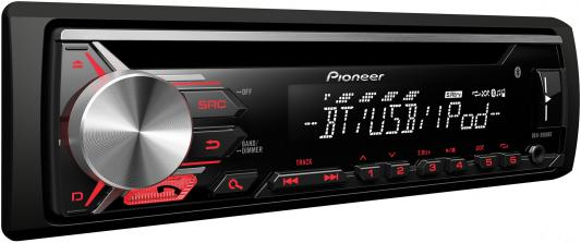 Автомагнитола Pioneer DEH-3900BT USB MP3 CD FM RDS 1DIN 4x50Вт черный