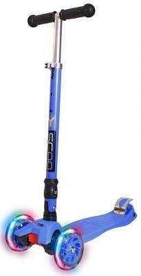 Самокат Y-SCOO 35 MAXI FIX Shine со светящимися колесами синий