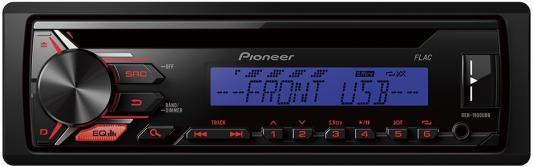 Автомагнитола Pioneer DEH-1900UBB USB MP3 CD FM RDS 1DIN 4x50Вт черный автомагнитола kenwood kdc bt500u usb mp3 cd fm rds 1din 4х50вт черный