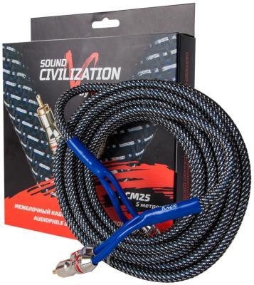 Акустический кабель Kicx RCA SCM25 5м цена