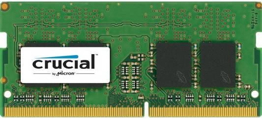 Оперативная память для ноутбуков SO-DDR4 8Gb PC4-19200 2400MHz Crucial CT8G4SFS824A оперативная память для ноутбуков so ddr4 8gb pc17000 2133mhz kingston kvr21s15s8 8