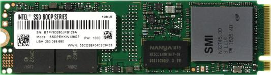 SSD Твердотельный накопитель M.2 128Gb Intel 600p Series Read 770Mb/s Write 450Mb/s PCI-E SSDPEKKW128G7X1 950358