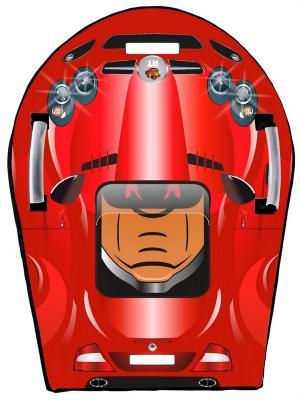 Ледянка RT SNOW AUTO L SLR MClaren до 150 кг красный ПВХ