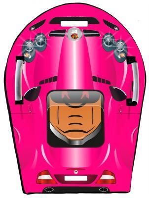 Ледянка RT SNOW AUTO L SLR MClaren до 150 кг розовый ПВХ