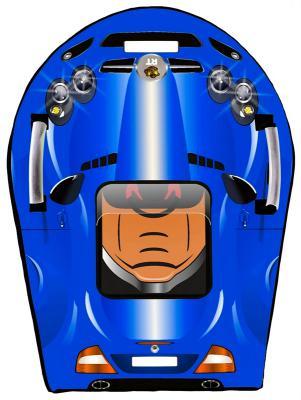 Ледянка RT SNOW AUTO L SLR MClaren до 150 кг синий ПВХ