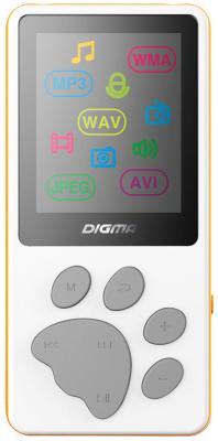 Плеер Digma S3 4Gb белый/оранжевый mp3 плеер digma s3 4гб черный