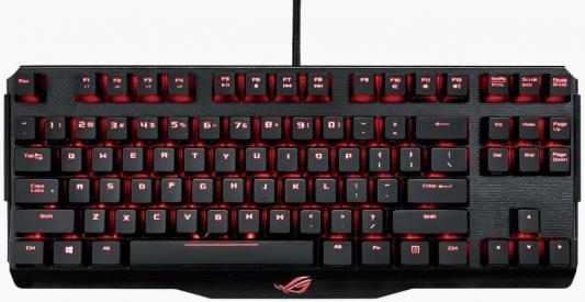 Клавиатура проводная ASUS ROG Claymore Core Black Switches USB черный Multimedia LED 90MP00I3-B0RA00 клавиатура asus strix tactic pro black multimedia gamer led usb