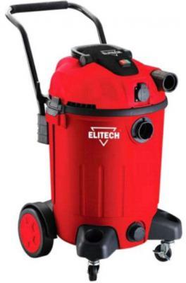 Промышленный пылесос Elitech ПС 1260А сухая влажная уборка красный