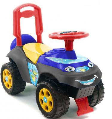 Каталка-машинка Rich Toys Автошка синий от 1 года пластик 013117/01