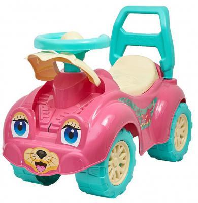 Каталка-машинка Rich Toys Zoo Animal Planet Заяц розовый от 8 месяцев пластик