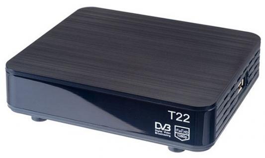 Тюнер цифровой DVB-T2 Perfeo PF-120-1 цена 2017