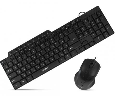 Комплект CROWN CMMK-520B черный USB