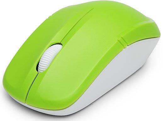 Мышь беспроводная Delux M-136 зелёный белый USB мышь delux m375 черный usb