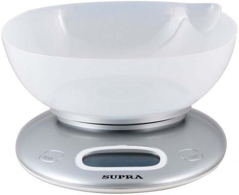 Весы кухонные Supra BSS-4022 серебристый