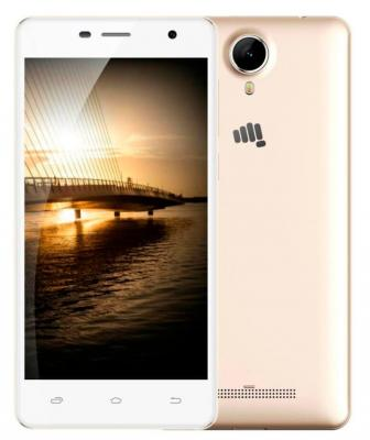 Смартфон Micromax Q351 Champagne белый 5 8 Гб GPS Wi-Fi 3G смартфон micromax a107 cosmic grey 4 5 8 гб wi fi gps 3g 4 5 2sim 8гб gps wi fi 3g android 5 0 2000 ма ч