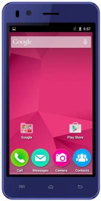 Смартфон Micromax Q424 синий 4.5 8 Гб Wi-Fi GPS 3G смартфон micromax a107 cosmic grey 4 5 8 гб wi fi gps 3g 4 5 2sim 8гб gps wi fi 3g android 5 0 2000 ма ч