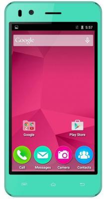 "Смартфон Micromax Q424 зеленый 4.5"" 8 Гб LTE Wi-Fi GPS 3G"
