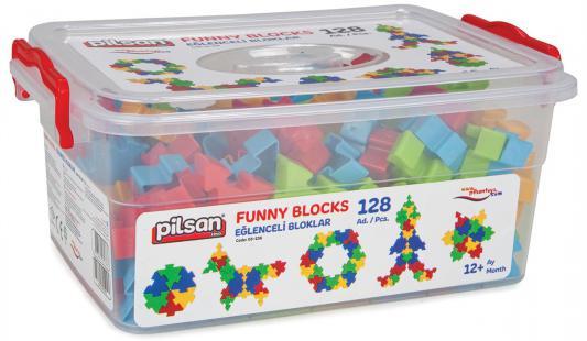 Конструктор Pilsan Funny Blocks 128 элементов 03-236 pilsan конструктор miniature