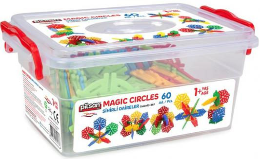 Конструктор Pilsan Magic Circles 60 элементов 03-257 конструктор pilsan master blocks 52 дет 03 450
