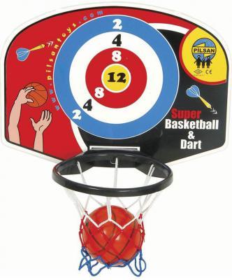 Игровой набор Pilsan Баскетбол и дартс (настенное) спортивный инвентарь pilsan игровой набор баскетбол дартс настенный