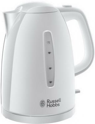 Чайник Russell Hobbs 21270-70 Textures White Kettle 2400 Вт белый 1.7 л пластик электрочайник russell hobbs legacy kettle black 21283 70