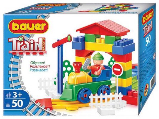 Конструктор Bauer Железная дорога 50 элементов 327 конструктор bauer железная дорога 200 элементов 255