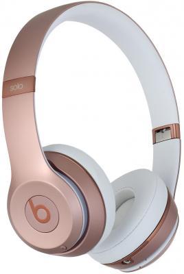 Наушники Apple Beats Solo3 Wireless розовый MNET2ZE/A наушники beats solo3 wireless on ear headphones rose gold