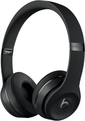 Наушники Apple Beats Solo3 Wireless черный MP582ZE/A гарнитура apple beats solo3 золотистый mr3y2ze a