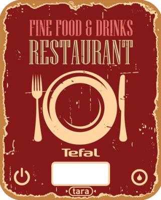 Весы кухонные Tefal BC5104V1 красный рисунок