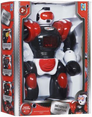 Боевой робот 1Toy Звездный защитник 35 см двигающийся со звуком светящийся